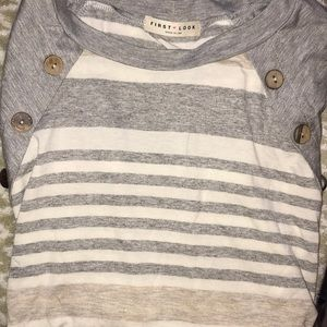 First look long sleeved striped shirt
